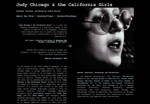 Screenshot of Judy Chicago and the California Girls website