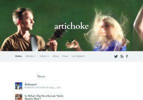 Screenshot of Artichoke website